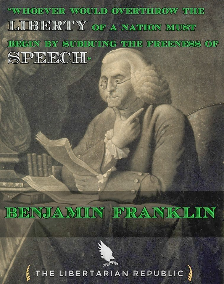 Ben Franklin On Subduing The Freeness Of Speech.jpg