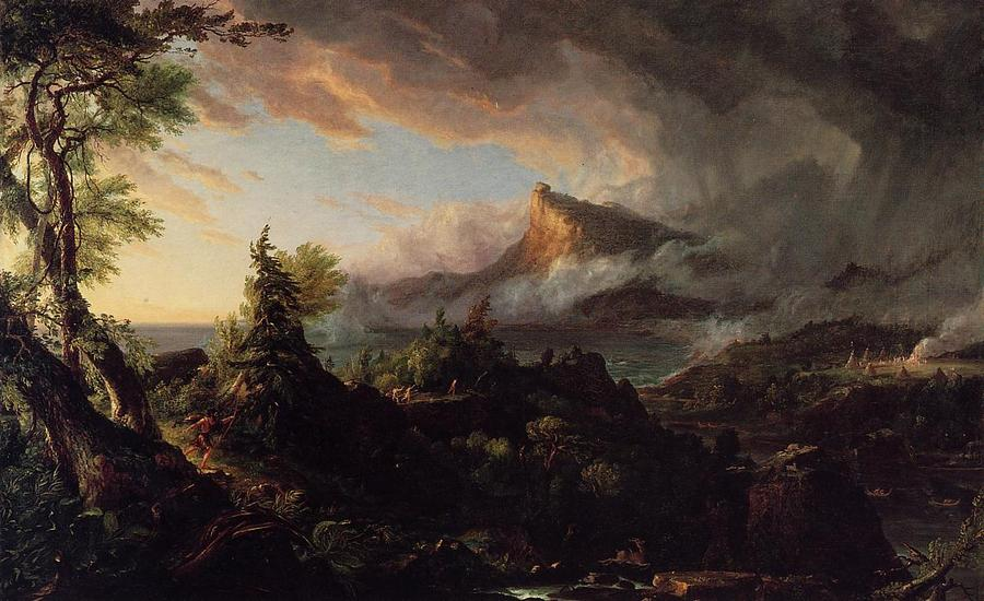 Thomas Cole--The Course of Empire.-01 The Savage State.1836.jpg