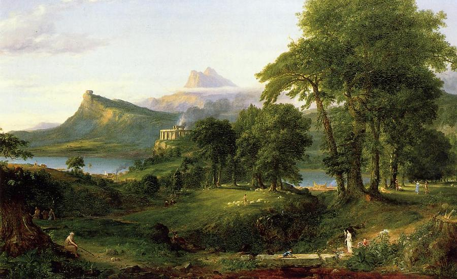 Thomas Cole--The Course of Empire.-02 The Arcadian or Pastoral State.1836.jpg