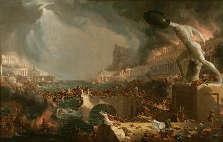 Thomas Cole--The Course of Empire.-04 Destruction.1836.jpg